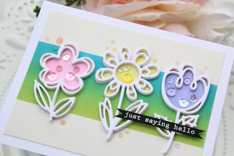 Die D-Lites Inspiration | Floral Card with Brenda Noelke for Spellbinders using S3-332 Sketched Blooms #spellbinders #cardmaking #handmadecard #diecutting