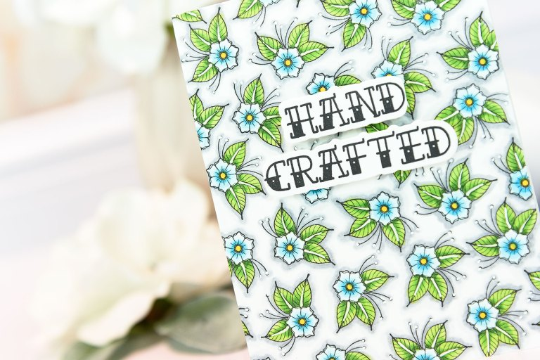 Spellbinders Handmade Collection by Stephanie Low - Inspiration | Handcrafted Card by Yana Smakula for Spellbinders using SDS-071 - Handcrafted Handmade by Stephanie Low Stamp and Die Set #cardmaking #handmadecard #stamping #adultcoloring #patternstamping #spellbinders