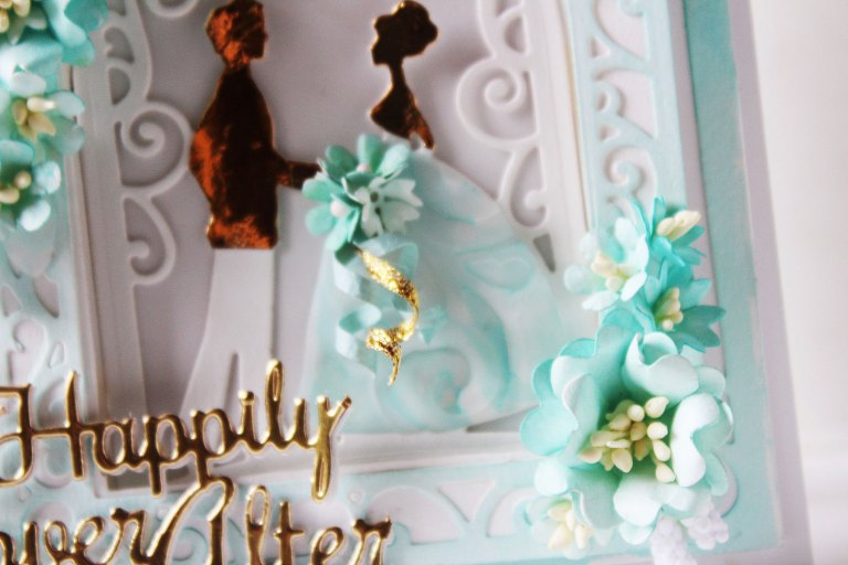 Elegant 3D Vignettes Collection by Becca Feeken Inspiration | Gift Bag & Happily Ever After Card with Hussena using S3-314 Petite Double Bow and Flowers S4-865 Layered Happily Ever After S4-867 Cinch and Go Flowers III, S4-869 Tiered Rosettes, S5-340 Ornamental Arch, S5-343 Filigree Veil, S6-136 Grand Dome 3D Card, S6-138 Grand Arch 3D Card dies #cardmaking #papercrafting #diecutting #handmadecard