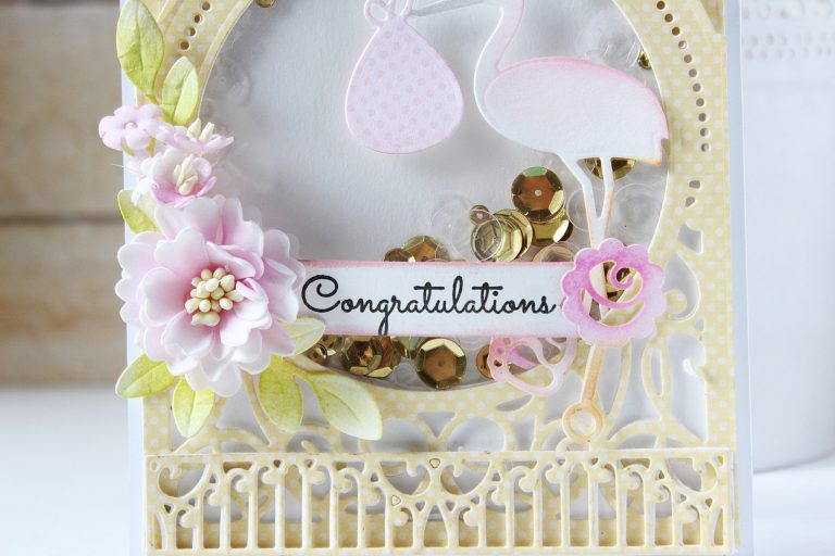 Elegant 3D Vignettes Collection by Becca Feeken - Inspiration | Anniversary & Baby Shaker Cards with Hussena for Spellbinders using: S3-314 Petite Double Bow and Flowers, S4-852 Bundle of Joy, S4-867 Cinch and Go Flowers III, S4-869 Tiered Rosettes, S5-340 Ornamental Arch, S5-342 Tiara Rondelle, S6-136 Grand Dome 3D Card, S6-138 Grand Arch 3D Card, S6-141 Filigree Numbers, SDS-054 Giving Occasion Stamp and Die Set #spellbinders #neverstopmaking #diecutting #handmadecard