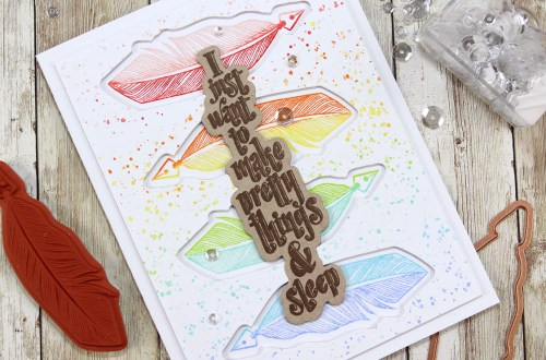Handmade Collection by Stephanie Low - Inspiration | Rainbows with Anna for Spellbinders using SDS-070 Pretty, SDS-075 Sew, SDS-077 Vintage Buttons, SDS-078 One Of A Kind #spellbinders #cardmaking #stamping #diecutting #handmadecard