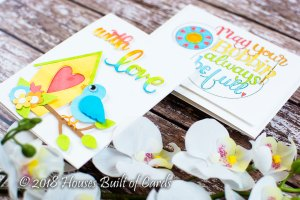 Sew Sweet Collection by Tammy Tutterow - Inspiration   Colorful Cards with Heather for Spellbinders using S6-142 Sweet Tweets, S4-913 Sew Sweet Sentiments, SBS-160 Bobbin Wishes #spellbinders #diecutting #stamping #handmadecard