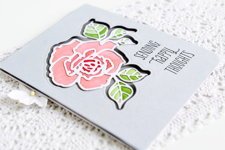 Good Vibes Only by Stephanie Low - Collection Inspiration | Clean & Simple Cards with Kay for Spellbinders using: S4-873 Rosy Summer Flowers #spellbinders #cleanandsimple #cardmaking #diecutting #handmadecard #neverstopmaking