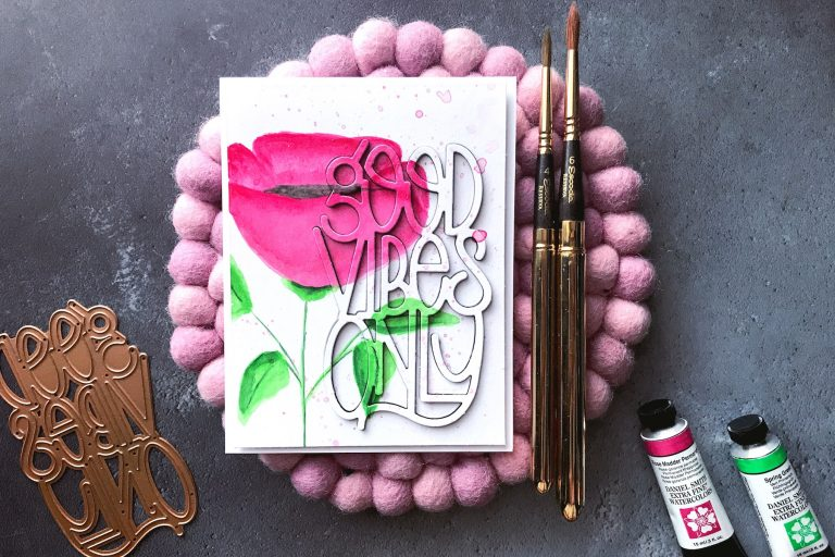 Good Vibes Only Collection by Stephanie Low - Inspiration   Good Vibes Only with Rubeena for Spellinders using S4-918 Good Vibes Only #spellbinders #cardmaking #handmadecard #neverstopmaking