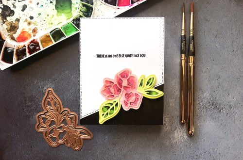Good Vibes Only Collection by Stephanie Low - Inspiration | Watercolor Florals with Rubeena for Spellbinders using S3-324 Lovely Lilac,S4-873 Rosy Summer Flowers dies #spellbinders #diecutting #handmadecard #neverstopmaking #watercolor