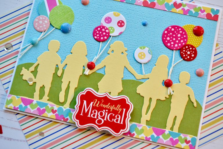 Little Loves Collection by Sharyn Sowell Inspiration-Inspiration | Silhouette Series with Susie for Spellbinders using: S4-116 Standard Circles S4-895 Away We Go S5-349 Little Loves A2 Card #spellbinders #neverstopmaking #cardmaking #diecutting #handmadecard