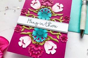 Folk Art Collection by Lene Lok - Inspiration | Floral Bouquet by Emily Midgett for Spellbinders using S4-897 Floral Bouquet dies #spellbinders #neverstopmaking #diecutting #handmadecard #diecut #copiccoloring