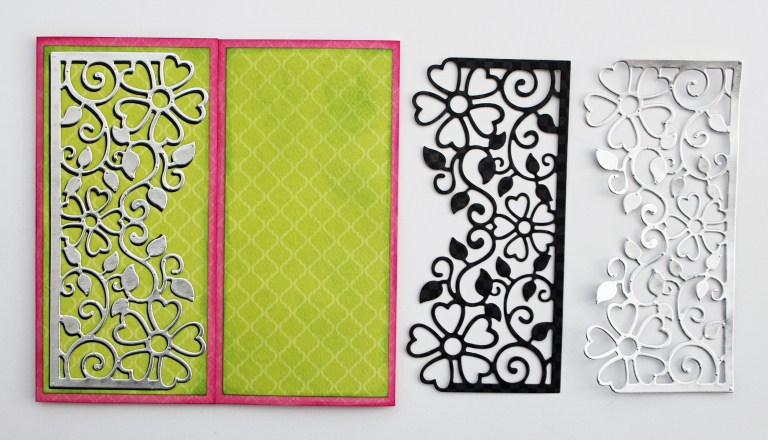 Especially Made For You Card by Marisa Job for Spellbinders featuring Blooming Garden Collection. Project created using S2-297 Especially Made For You, S4-916 Blooming Rose, S4-915 Top Floral Panel #spellbinders #diecutting #handmadecard #neverstopmaking #marisajob