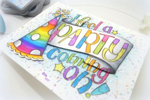 Video Friday   Rainbow Confetti Background with Kelly Latevola for Spellbinders using SDS-105 Party