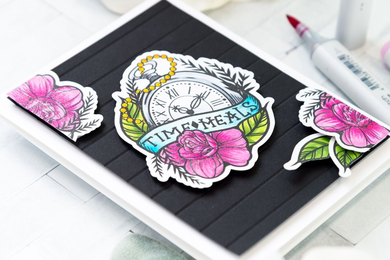 Spellbinders Inked Messages Collection Inspiration | Time Heals Card Featuring One Day At A Time Stamp and Die Set #spellbinders #neverstopmaking #stamping #cardmaking