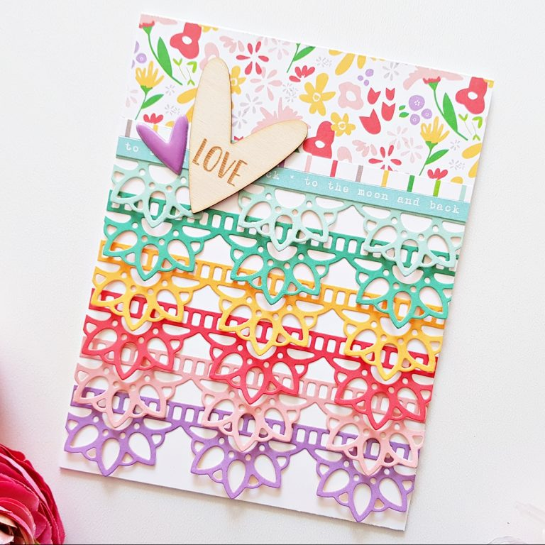 Special Moments Collection by Marisa Job - Inspiration | Colorful Cards by Zsoka Marko for Spellbinders using S5-376 Miss You Swirl, S5-378 Floral Oval, S4-944 Floral Lace Border dies. #diecutting #spellbinders #neverstopmaking #handmadecards