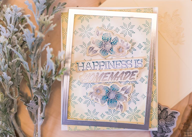 Spellbinders - Handmade Collection by Stephanie Low - Inspiration   Faux Stitched Antique Card by Jenny Colacicco #spellbinders #stamping