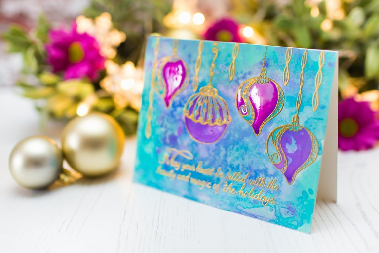 Spellbinders Zenspired Holidays Collection by Joanne Fink - Inspiration   Magic of the Holidays with Mona Toth featuring SBS-164 Dangling Ornaments,SBS-165 Christmas Sentiments #spellbinders #neverstopmaking
