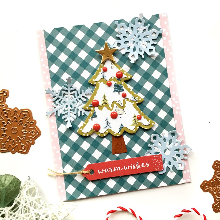 Spellbinders Die D-Lites Holiday Inspiration | More Christmas Cards with Enza Gudor featuring S3-361 Christmas Tree, S3-362 Snowflakes, S3-360 Snowman dies #spellbinders #neverstopmaking #diecutting