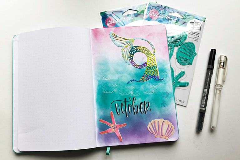 Spellbinders Jane Davenport Artomology | Journal Cover Page with Cindy Guentert-Baldo #janedavenport #janedavenportartomology #Artomology #spellbinders #neverstopmaking #smoothmarkers #makeitwithmichaels #washisheets