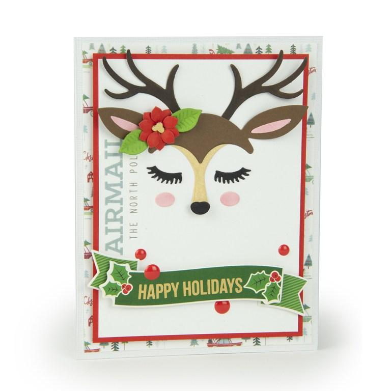 """Spellbinders November 2018 Card Kit of the Month is Here – """"Deer"""" Santa!"""