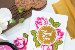 Spellbinders Glimmer Hot Foil System | Stamping & Hot Foil - Easy Thank You Cards by Yana Smakula #spellbinders #glimmerhotfoilsystem