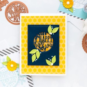 Spellbinders December 2018 Small Die of the Month is Here – Warm Wishes! Happy for You Handmade Card.