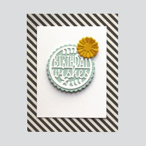 Spellbinders December 2018 Small Die of the Month is Here – Warm Wishes! Birthday Wishes Card. Step 3