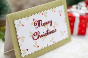 A Sweet Christmas Inspiration   A Merry Christmas Card by Elena Salo for Spellbinders