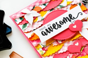 Spellbinders December 2018 Club Gift - Have an Awesome Day Handmade Card