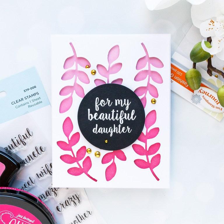 Spellbinders December 2018 Club Gift - For my Beautiful Daughter Handmade Card
