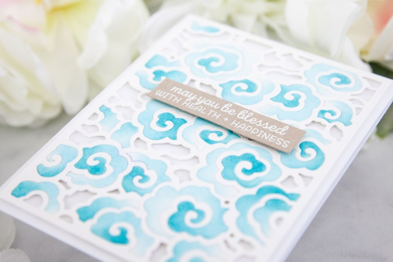 Destinations China collection by Lene Lok - Inspiration | Intricate Die Ink Blending by Keeway Tsao for Spellbinders