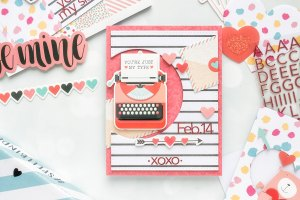 Spellbinders Card Club Kit Extras! January 2019 Edition - You are just my type card.