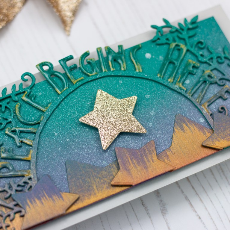 Peace Begins Here Handmade Card by Koren Wiskman for Spellbinders featuring Great, Big, Wonderful World collection by Sharyn Sowell