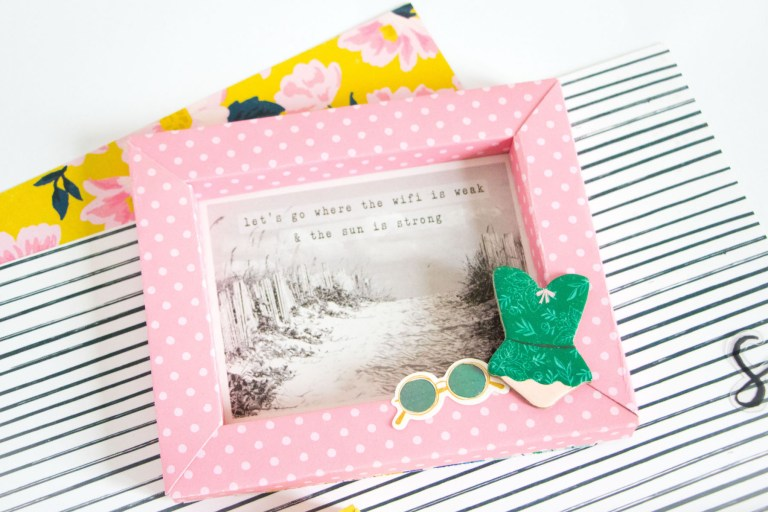Shadowbox Collection by Becca Feeken - Inspiration   Scrapbook Shadowboxes with Kathleen Graumüller for Spellbinders