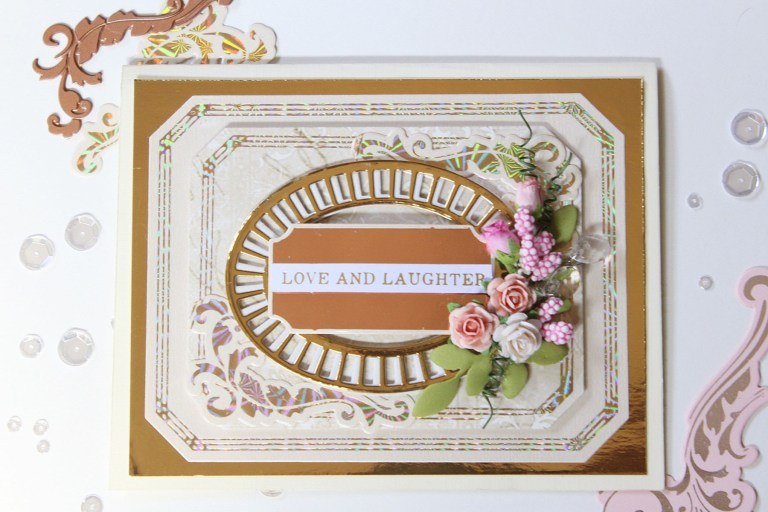 Spellbinders The Gilded Age Collection by Becca Feeken - Inspiration | Layered Foiled Handmade Cards by Hussena Calcuttawala