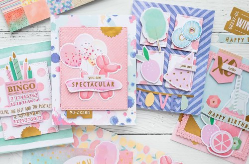 Spellbinders Card Club Kit Extras - Super Chill! June 2019 Edition