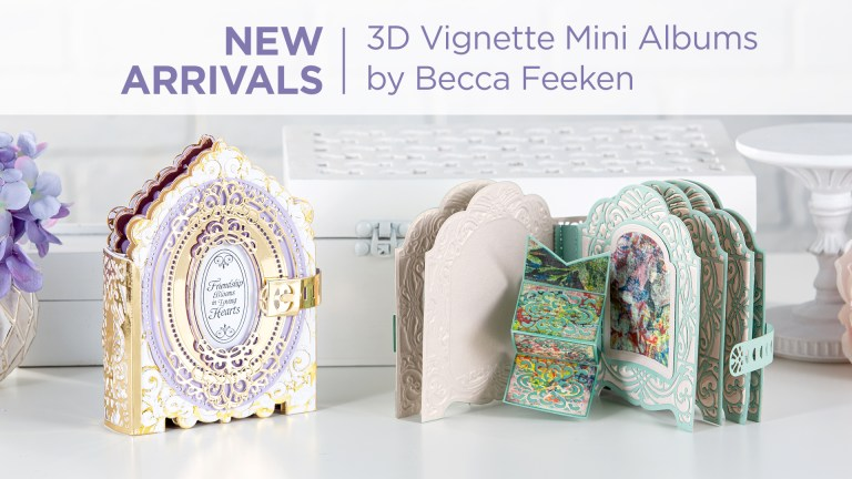 Amazing Paper Grace 3D Vignette Mini Album Collection by Becca Feeken