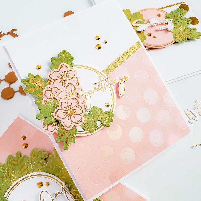 Spellbinders Yana's Foiled Basics Collection - Inspiration | Feminine Cards with Yasmin Diaz #YSFoiledBasics #GlimmerHotFoilSystem #Spellbinders #HotFoil #Cardmaking