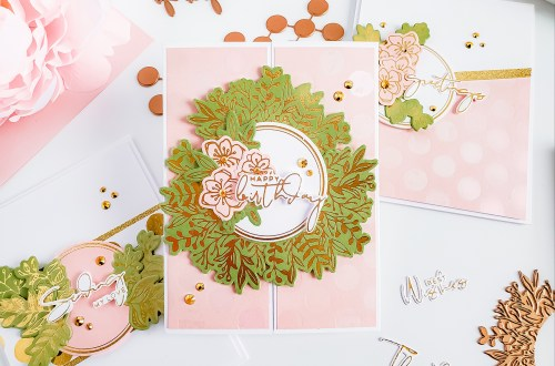 Spellbinders Yana's Foiled Basics Collection - Inspiration | Feminine Cards with Yasmin Diaz #YSFoiledBasics #GlimmerHotFoilSystem #Spellbinders #HotFoil #Cardmaking