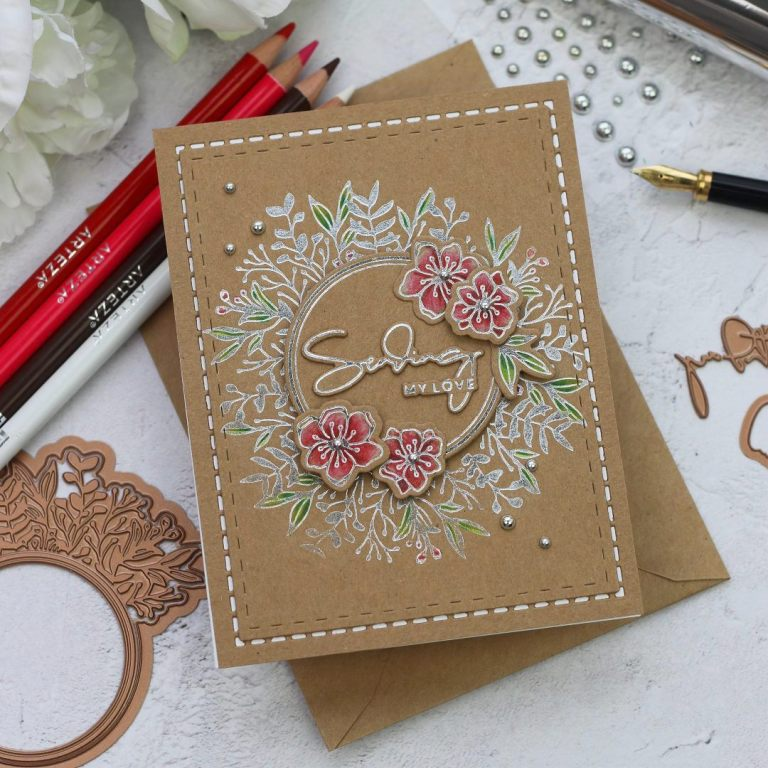 Spellbinders Yana's Foiled Basics Collection - Inspiration | Simple Foiled Cards with Bibi Cameron #YSFoiledBasics #GlimmerHotFoilSystem #Spellbinders #HotFoil #Cardmaking