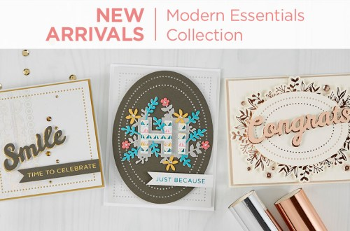 What's New at Spellbinders | Modern Essentials Collection #Spellbinders #NeverStopMaking #DieCutting #Cardmaking #GlimmerHotFoilSystem