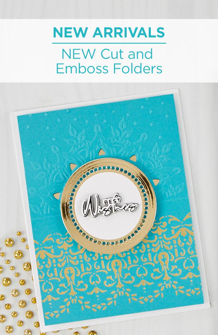 What's New at Spellbinders | Cut & Emboss Folders #Spellbinders #NeverStopMaking #DieCutting #Cardmaking #embossingfolder #embossing