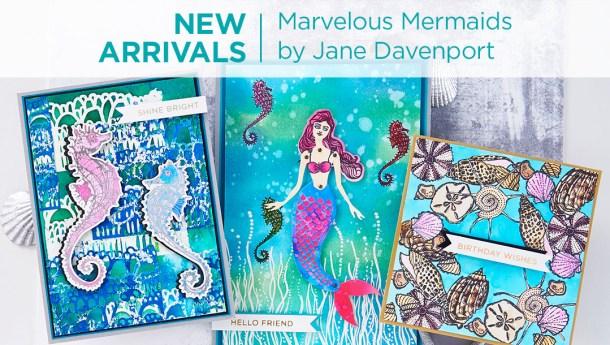 What's New at Spellbinders | Marvelous Mermaids Collection by Jane Davenport #Spellbinders #NeverStopMaking #JaneDavenport