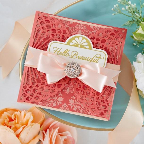 Spellbinders Cardmaking Inspiration | Hello Beautiful Card Featuring Vintage Starburst Valance and Gatefold with Kim Kesti #Spellbinders #NeverStopMaking