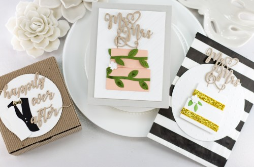 Spellbinders Wedding Season Collection by Nichol Spohr - Inspiration | Handmade Wedding Cards Ideas with Koren Wiskman | Video tutorial #Spellbinders #NeverStopMaking #DieCutting #Cardmaking