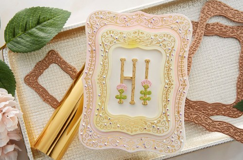 Spellbinders July 2020 Glimmer Hot Foil Kit of the Month is Here – Illustrative Floral #Spellbinders #NeverStopMaking #SpellbindersClubKits #Cardmaking #GlimmerHotFoilSystem