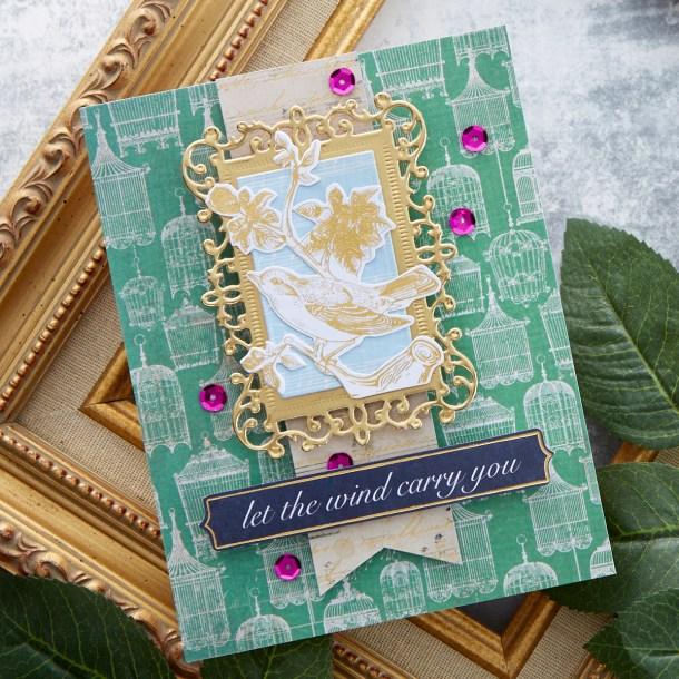 Spellbinders July 2020 Card Kit of the Month is Here – Vintage Mementos #Spellbinders #NeverStopMaking #CardKit #Cardmaking