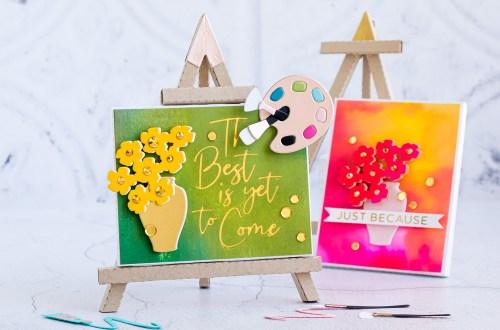 Spellbinders August 2020 Large Die of the Month is Here – 3D Still Life Easel & Canvas #SpellbindersClubKits #Spellbinders #NeverStopMaking #Cardmaking #DieCutting