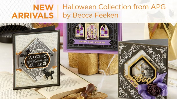 "Becca's Halloween 2020 collection still has the ""elegance"" that is Amazing Paper Grace, with some fun added! All can be used on their own, together or with the Charming Christmas Cottage (S6-153). What's New 