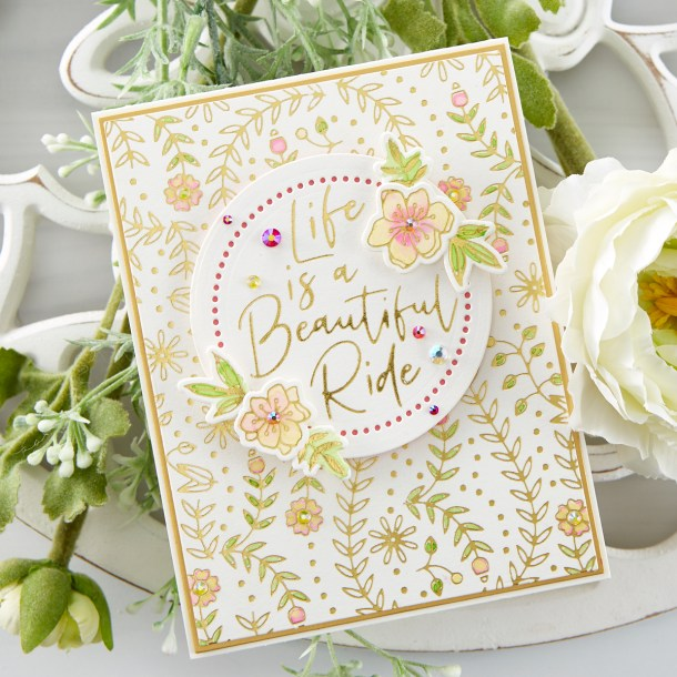 What's New at Spellbinders | Stylish Script Collection #Spellbinders #NeverStopMaking #GlimmerHotFoilSystem #Cardmaking