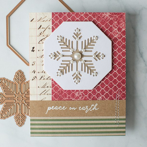 CAS Holiday Cards with Carolyn Peeler for Spellbinders featuring Christmas Cascade collection by Becca Feeken #Spellbinders #NeverStopMaking #Diecutting #ChristmasCardmaking