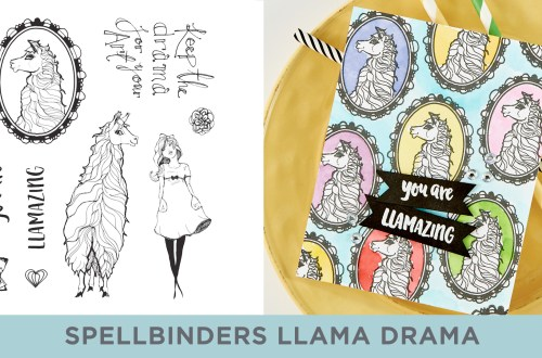 Spellbinders Cardmaking Inspiration | You are Llamazing Card Featuring Jane Davenport Clear Stamp Llama Drama (JDS-055) with Kim Kesti #Spellbinders #Cardmaking #NeverStopMaking #Stamping