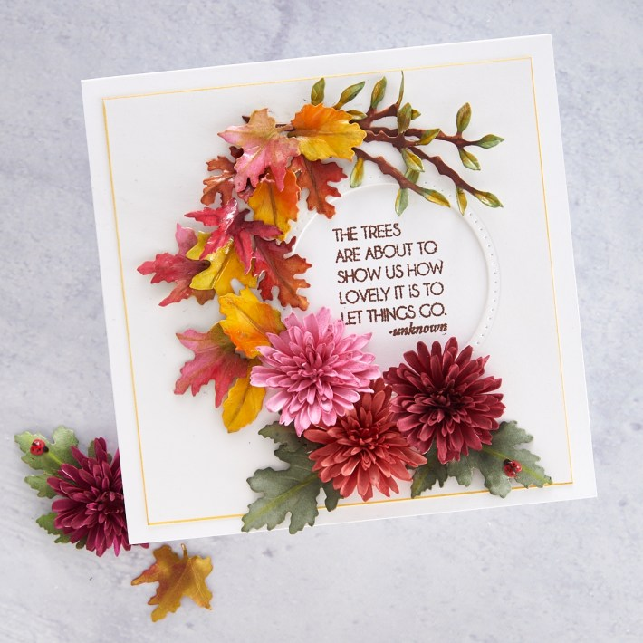 What's New at Spellbinders | Autumn Flora Collection by Susan Tierney-Cockburn. S4-1080 Woodland Garden Leaves #Spellbinders #NeverStopMaking #PaperFlowers #DieCutting #Cardmaking