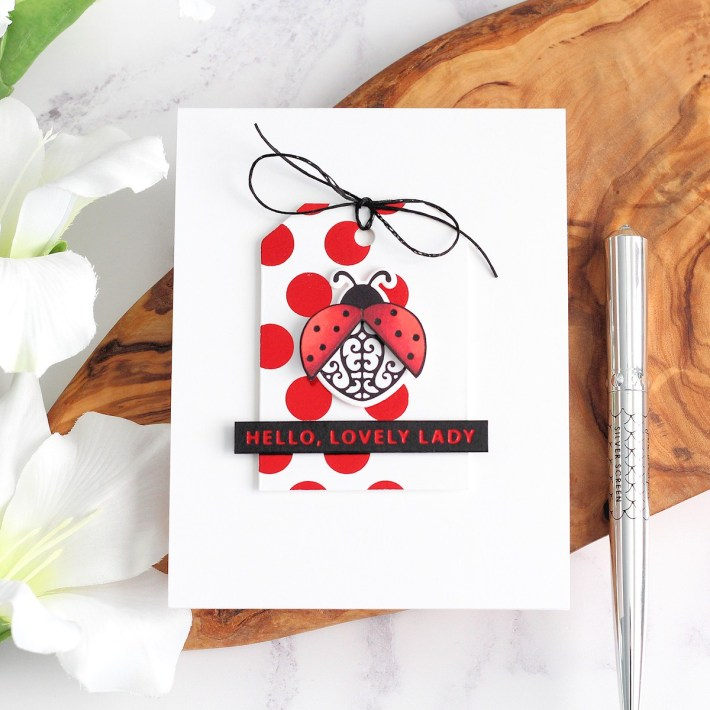 Becca Feeken Sweet Cardlets Glimmer Project Kit | Cardmaking Inspiration with Michelle Short | Video Tutorial | Lovely Lady Card #NeverStopMaking #DieCutting #Cardmaking #GlimmerHotFoilSystem